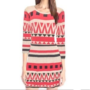 🟣 FLYING TOMATO Printed Knit Bodycon Dress S EUC